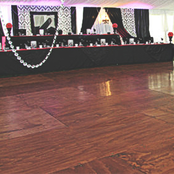 dance floor and stage rentals