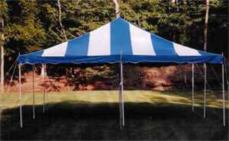 20u2032 x 20u2032 Pole Tent & Tent rentals Linen rentalschair rentals from Burkeu0027s Tent Rentals