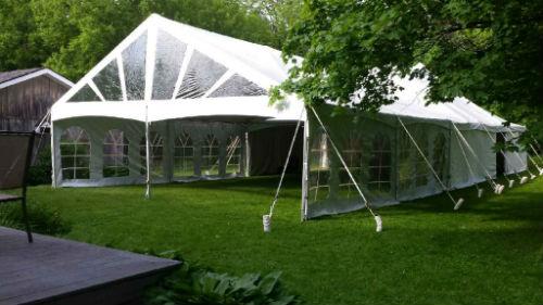 30u2032 x 45u2032 Frame Tent & Tent rentals Linen rentalschair rentals from Burkeu0027s Tent Rentals