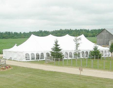 40u2032 x 100u2032 Pole Tent & Tent rentals Linen rentalschair rentals from Burkeu0027s Tent Rentals