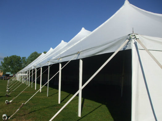 60u2032 x 90u2032 Pole Tent & Tent rentals Linen rentalschair rentals from Burkeu0027s Tent Rentals