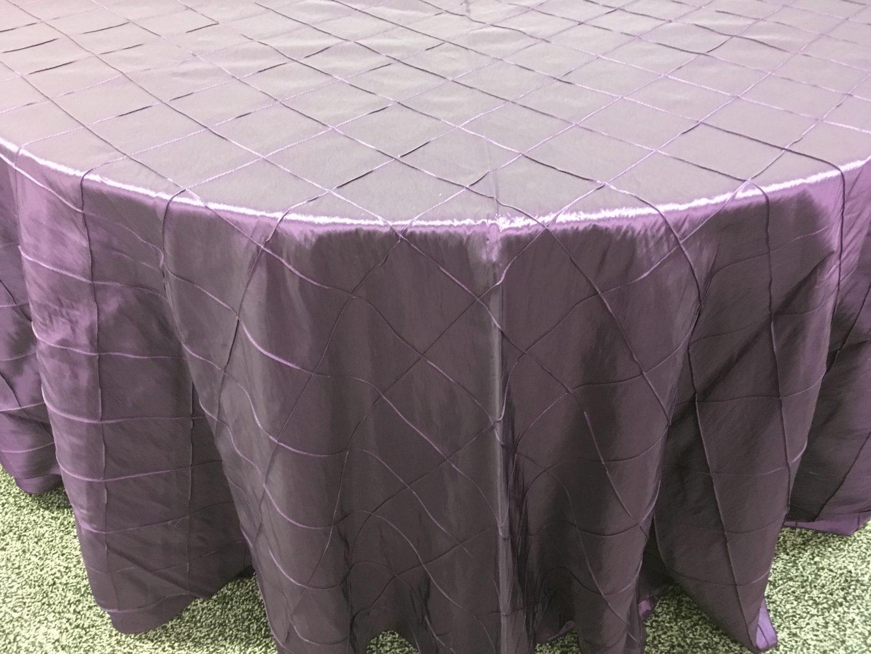 Plum Pintuck Taffeta Tablecloth