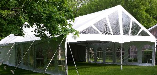 40u2032 x 45u2032 Frame Tent & Tent rentals Linen rentalschair rentals from Burkeu0027s Tent Rentals